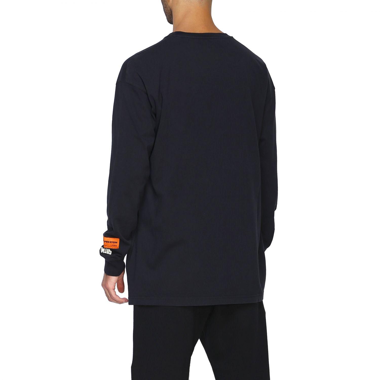T-shirt Heron Preston: Maglia Heron Preston a girocollo con maxi stampa nero 3