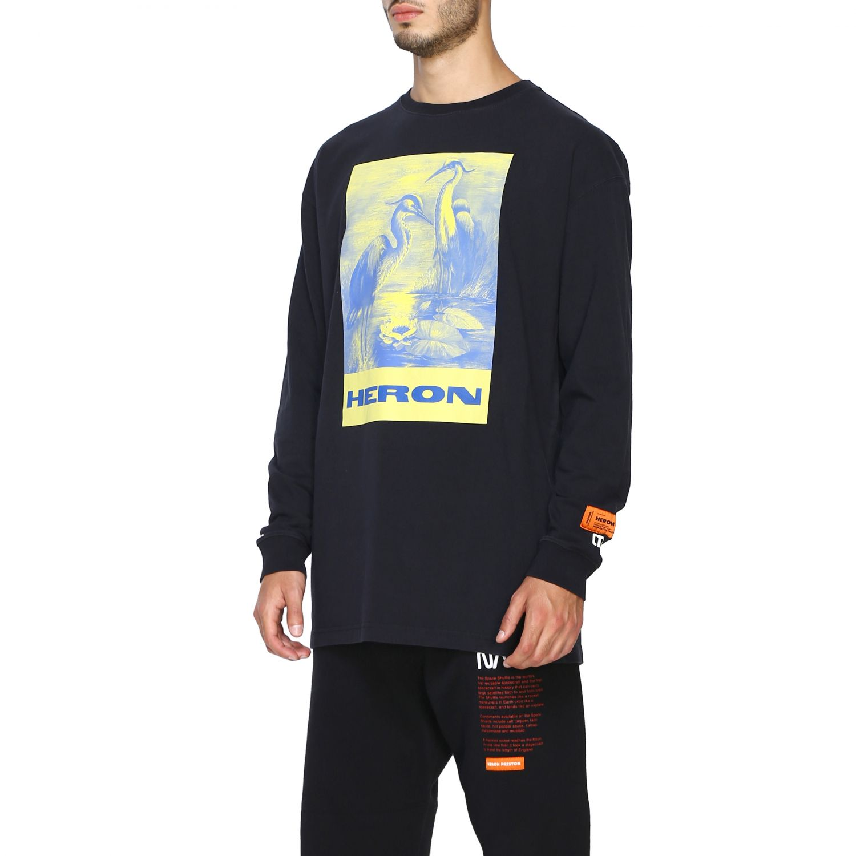 T-shirt Heron Preston: Maglia Heron Preston a girocollo con maxi stampa nero 4