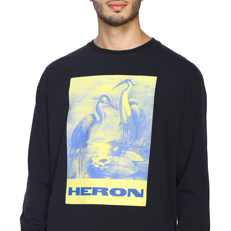 T-shirt Heron Preston: Maglia Heron Preston a girocollo con maxi stampa nero 5