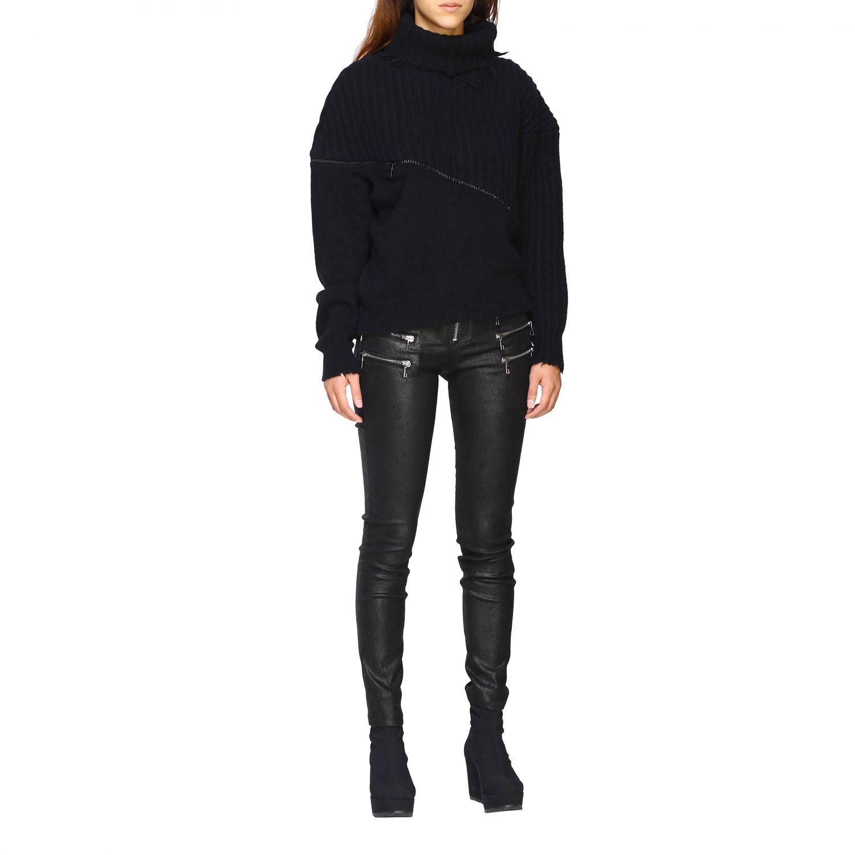 Pantalon femme Unravel Project noir 2