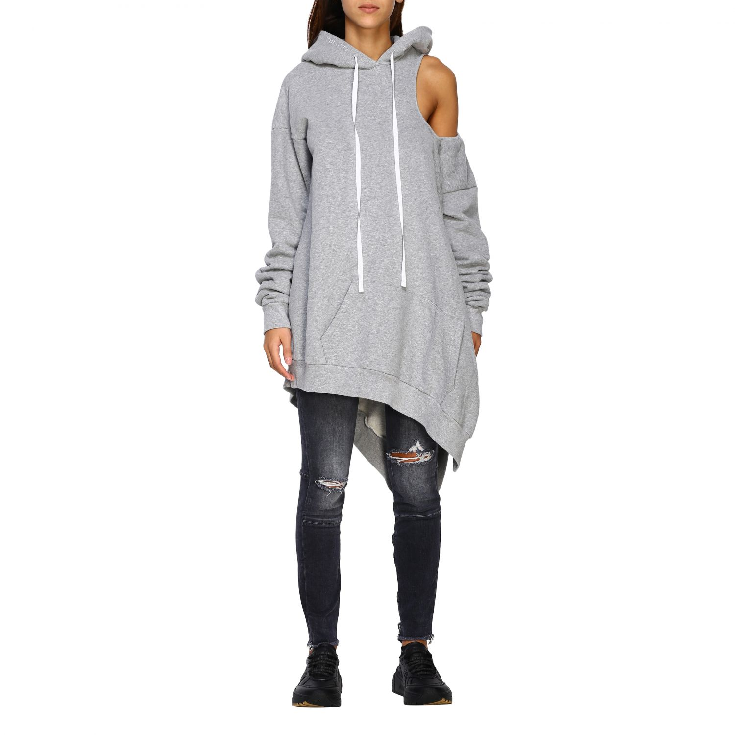 Pull femme Unravel Project gris 1