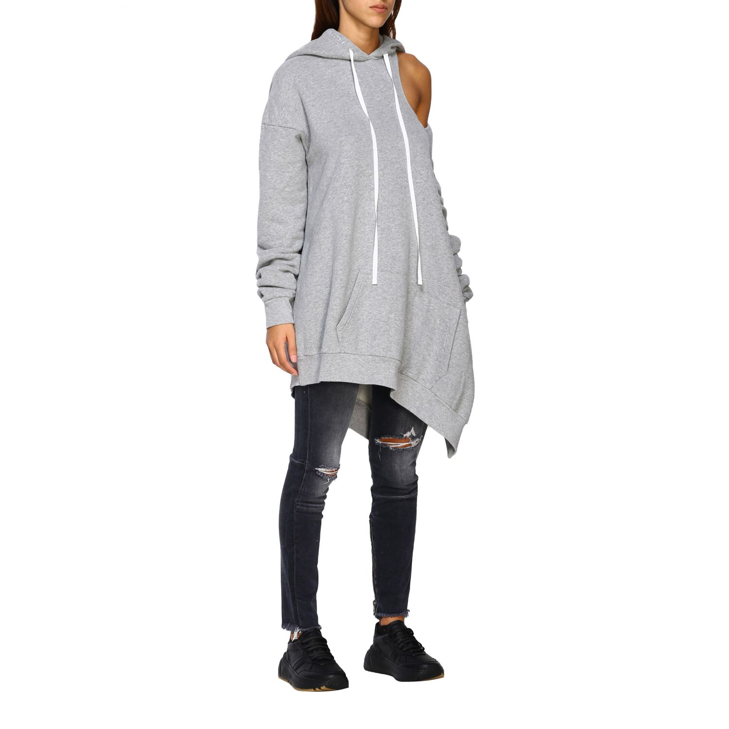 Pull femme Unravel Project gris 2