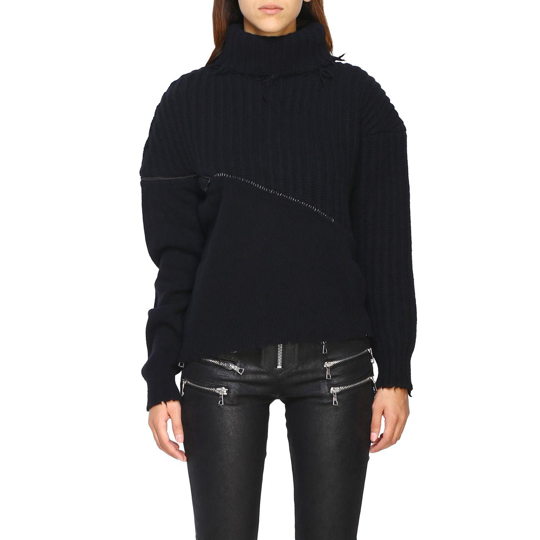 Pull femme Unravel Project noir 1