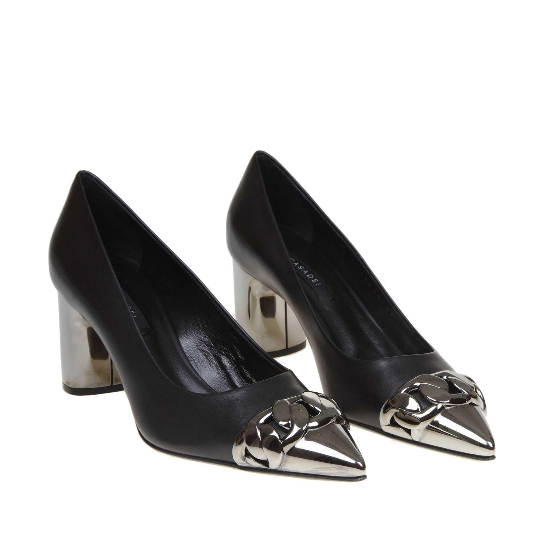 Court shoes women Casadei black 2