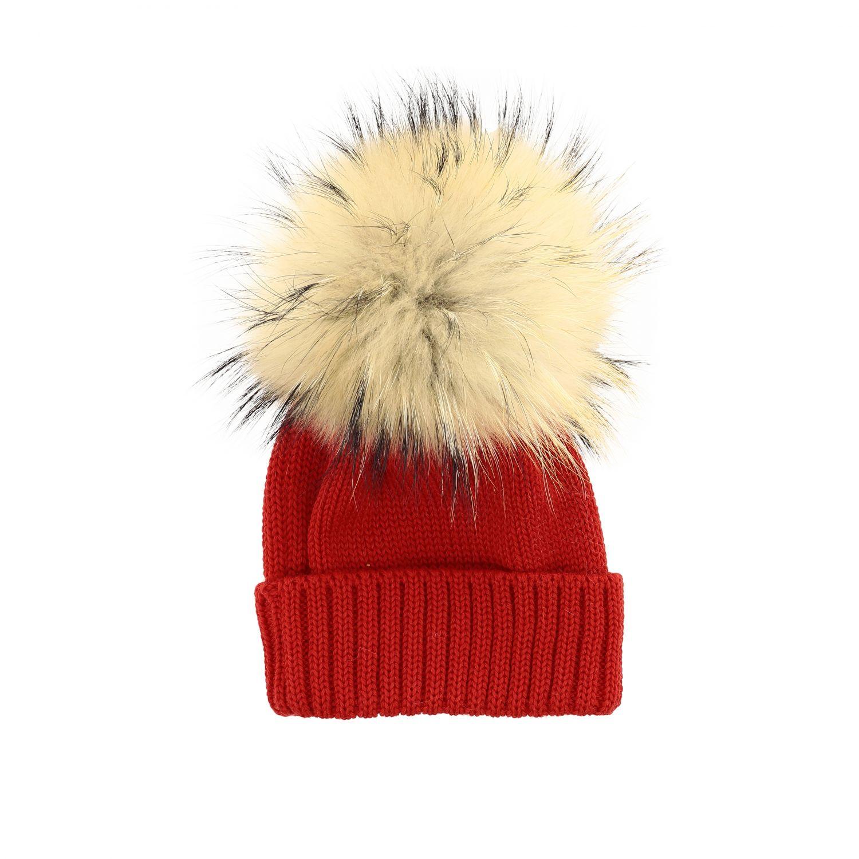 Chapeau enfant Catya rouge 2