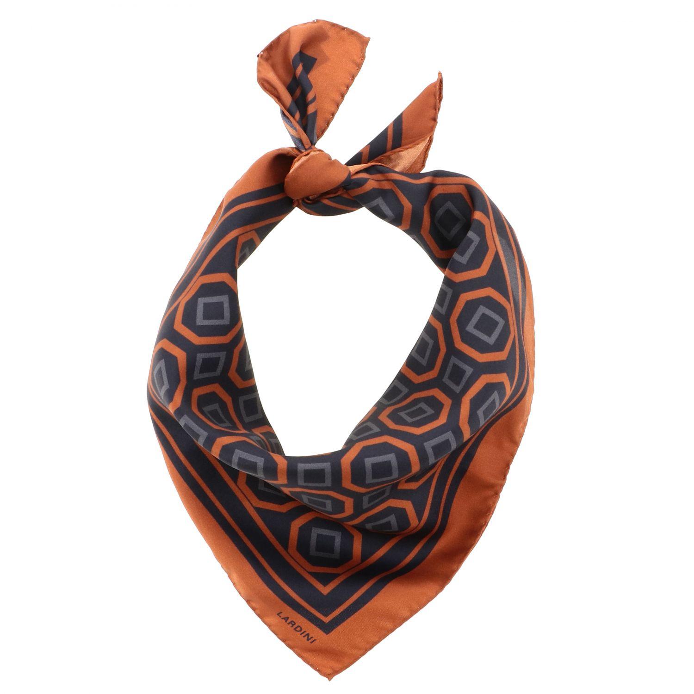 Neck scarf men Lardini black 2