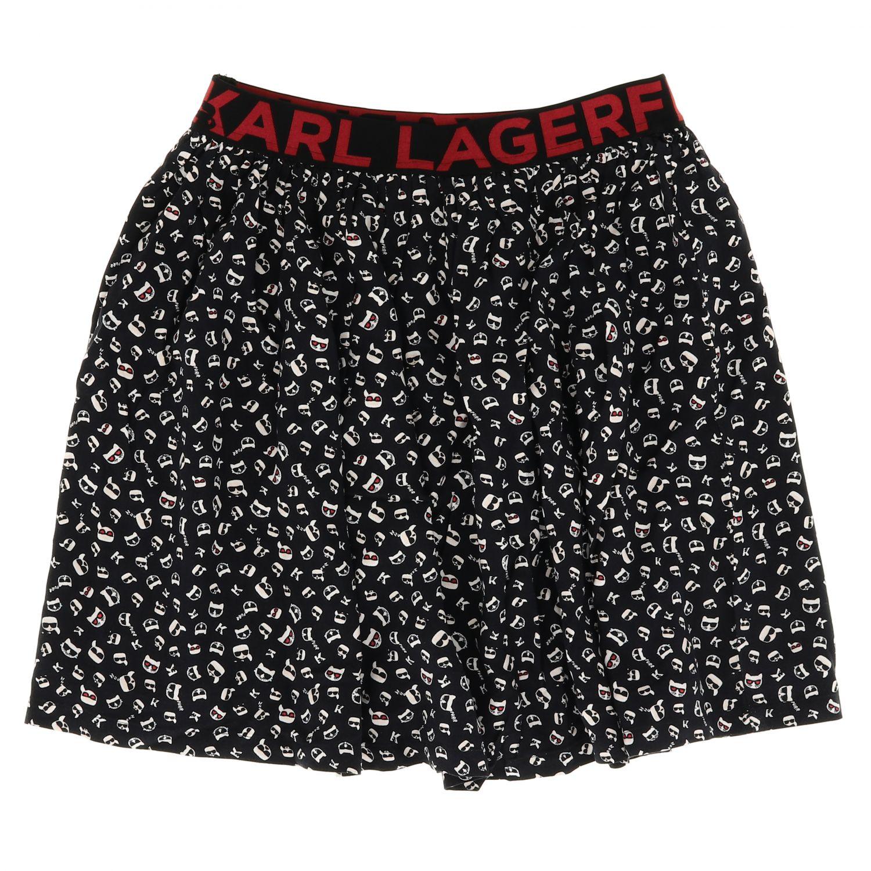 Falda niños Karl Lagerfeld Kids negro 1