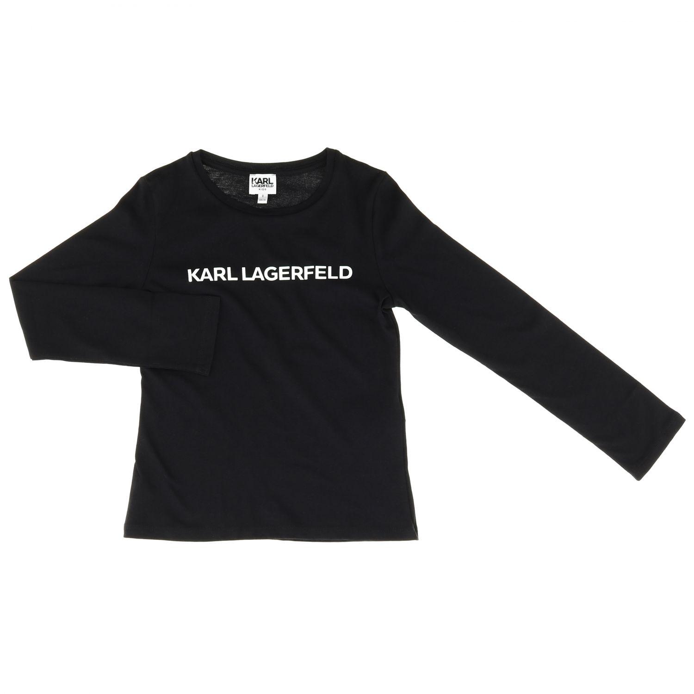 T-shirt kinder Karl Lagerfeld Kids schwarz 1