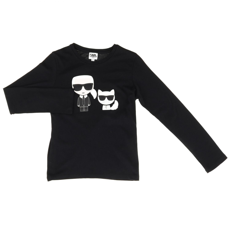 Camiseta niños Karl Lagerfeld Kids negro 1
