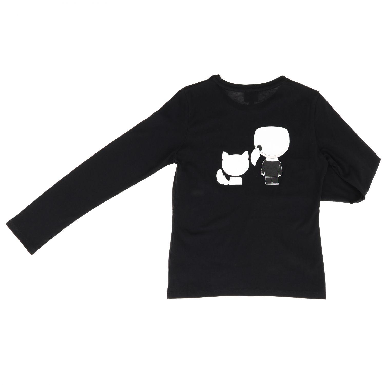 Camiseta niños Karl Lagerfeld Kids negro 2