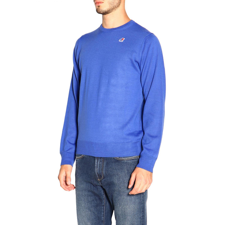 Jumper men K-way gnawed blue 4