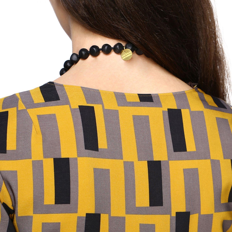 Gioielli Maliparmi: Collana Maliparmi con nappa di frange nero 3