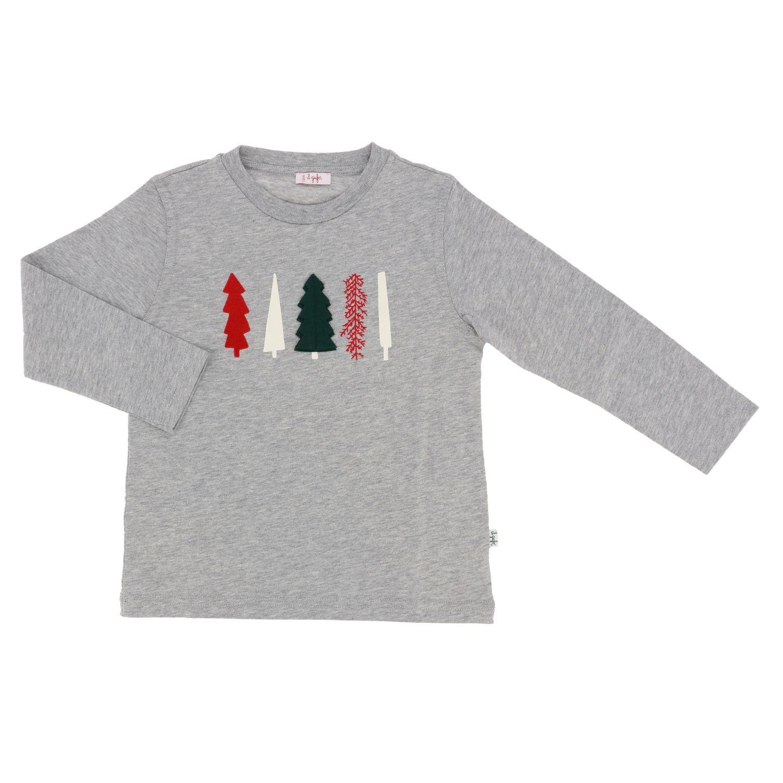 Sweater kids Il Gufo grey 1