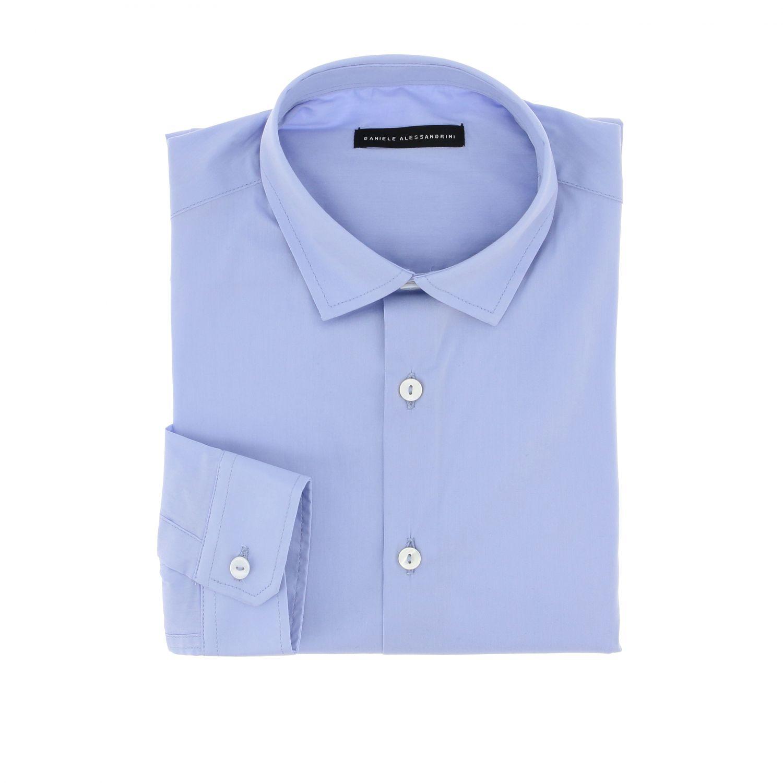 Camicia Daniele Alessandrini: Camicia Daniele Alessandrini a maniche lunghe bianco 1