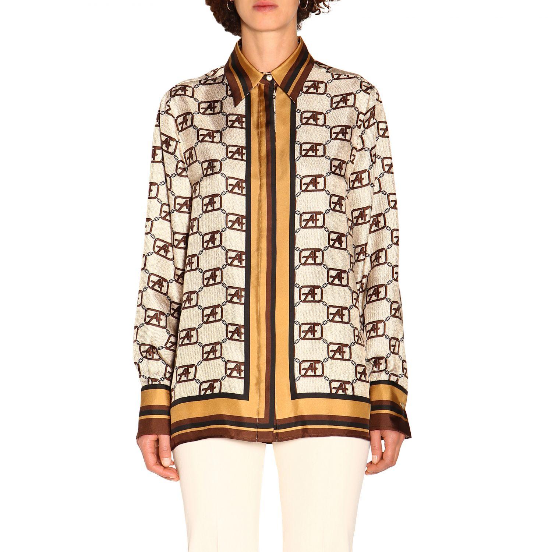 Shirt Alberta Ferretti: Alberta Ferretti shirt with all over monogram ivory 1