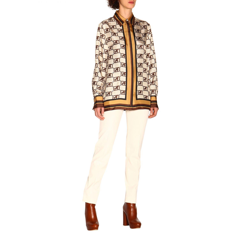 Shirt Alberta Ferretti: Alberta Ferretti shirt with all over monogram ivory 2