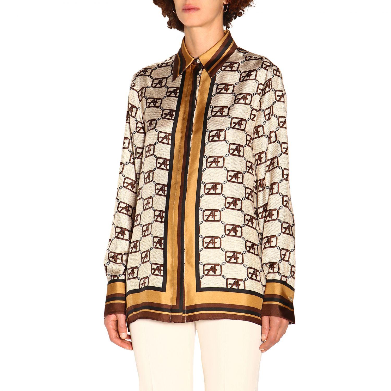 Shirt Alberta Ferretti: Alberta Ferretti shirt with all over monogram ivory 4