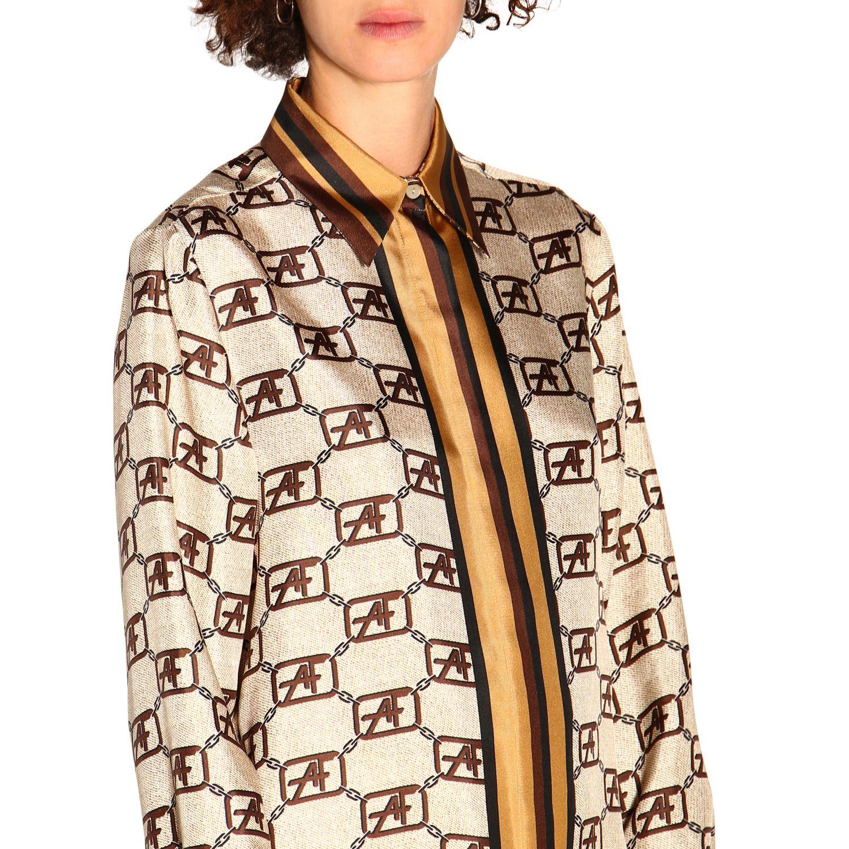 Camicia Alberta Ferretti: Camicia Alberta Ferretti con monogramma all over avorio 5