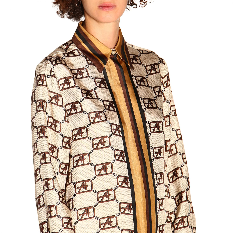 Shirt Alberta Ferretti: Alberta Ferretti shirt with all over monogram ivory 5