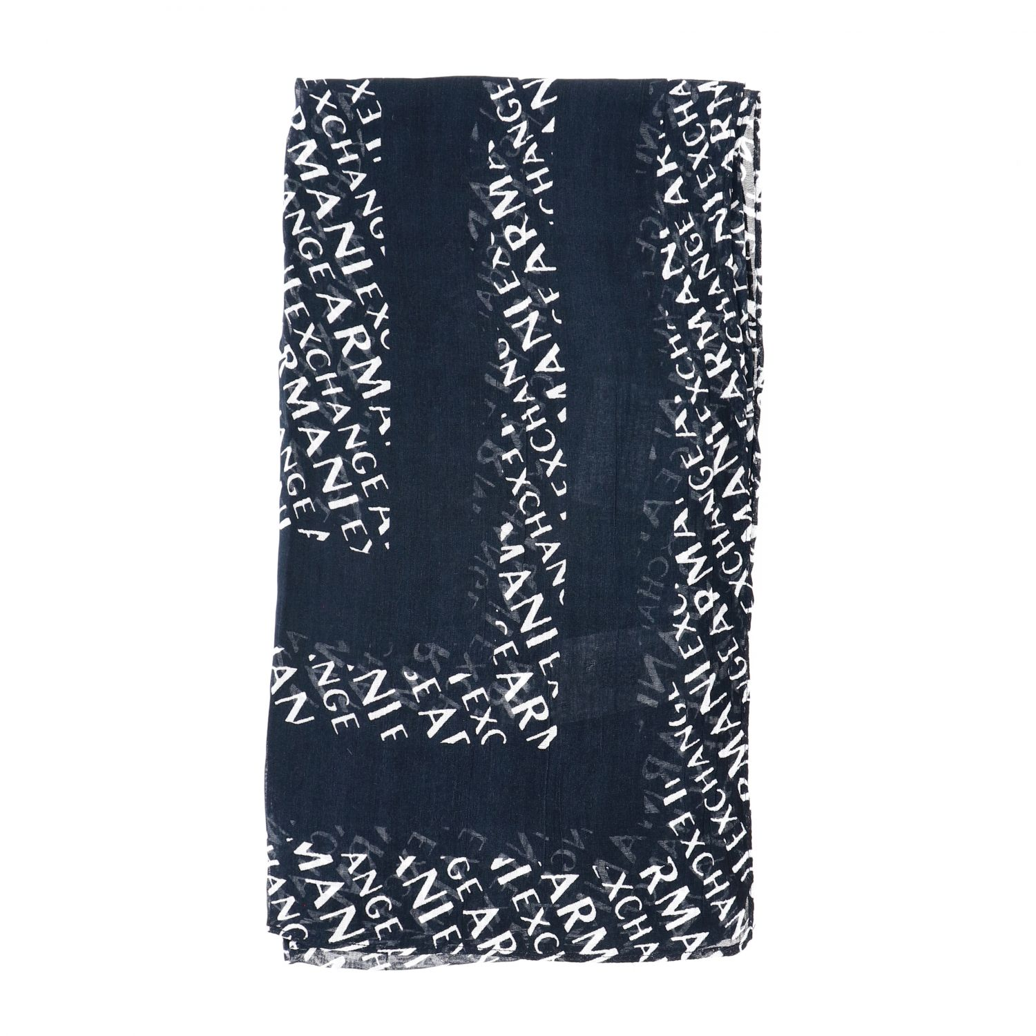 Foulard Armani Exchange con logo all over blue 1 1