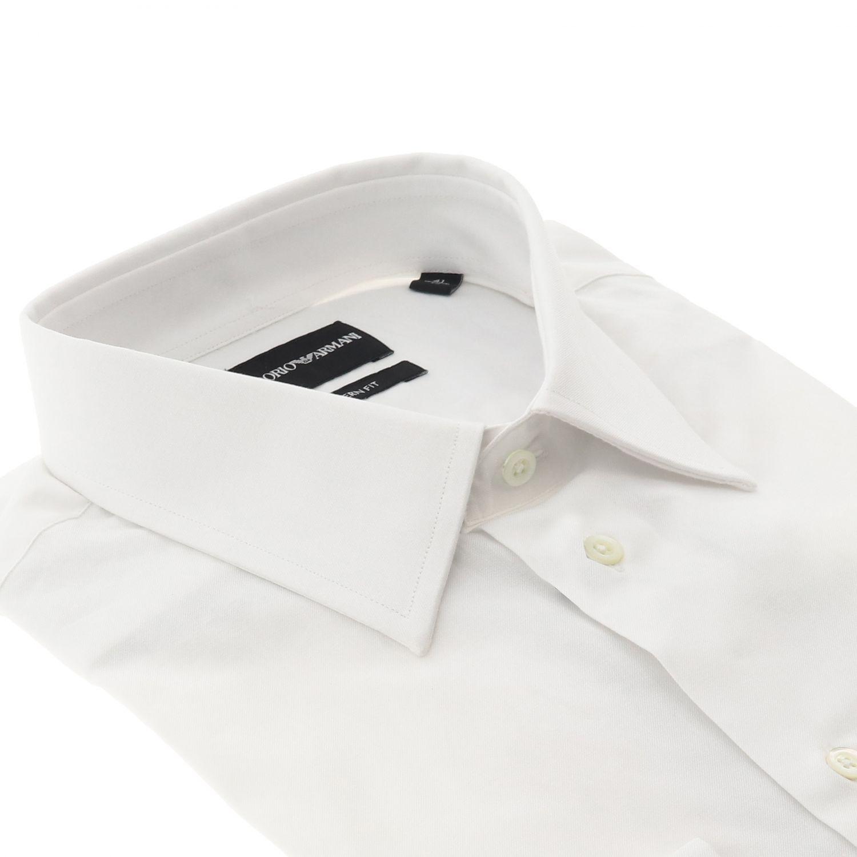 Shirt Emporio Armani: Shirt men Emporio Armani white 2
