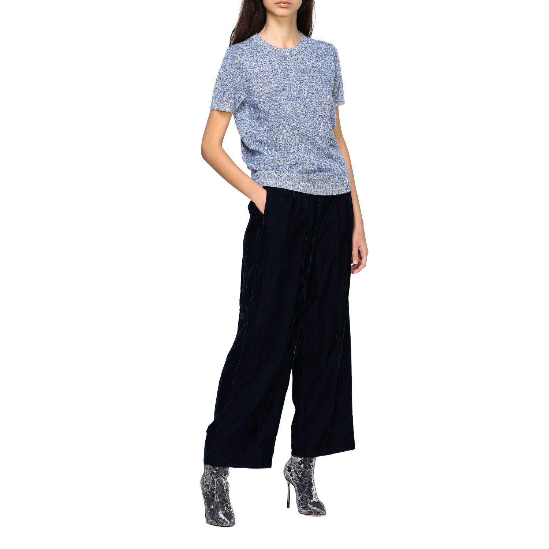 Pantalon femme Forte Forte gris 2