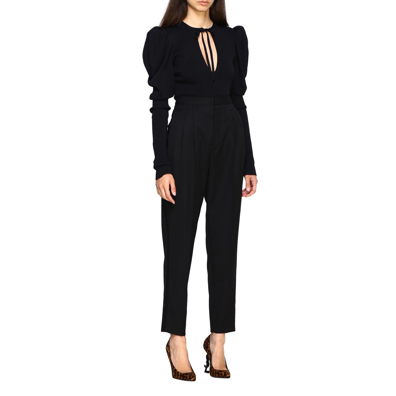 Pantalone donna Saint Laurent nero 2