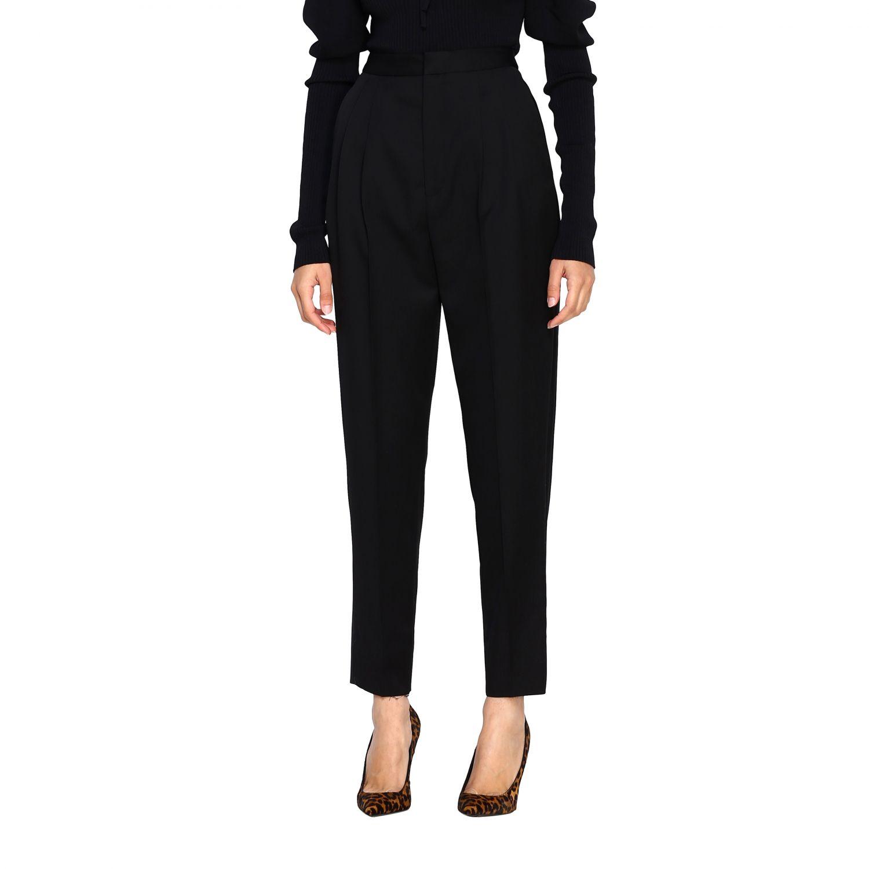 Pantalone donna Saint Laurent nero 4