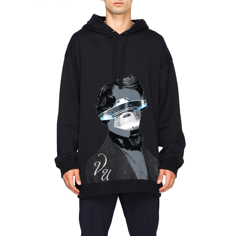 Valentino v face ufo 印花连帽卫衣 黑色 1