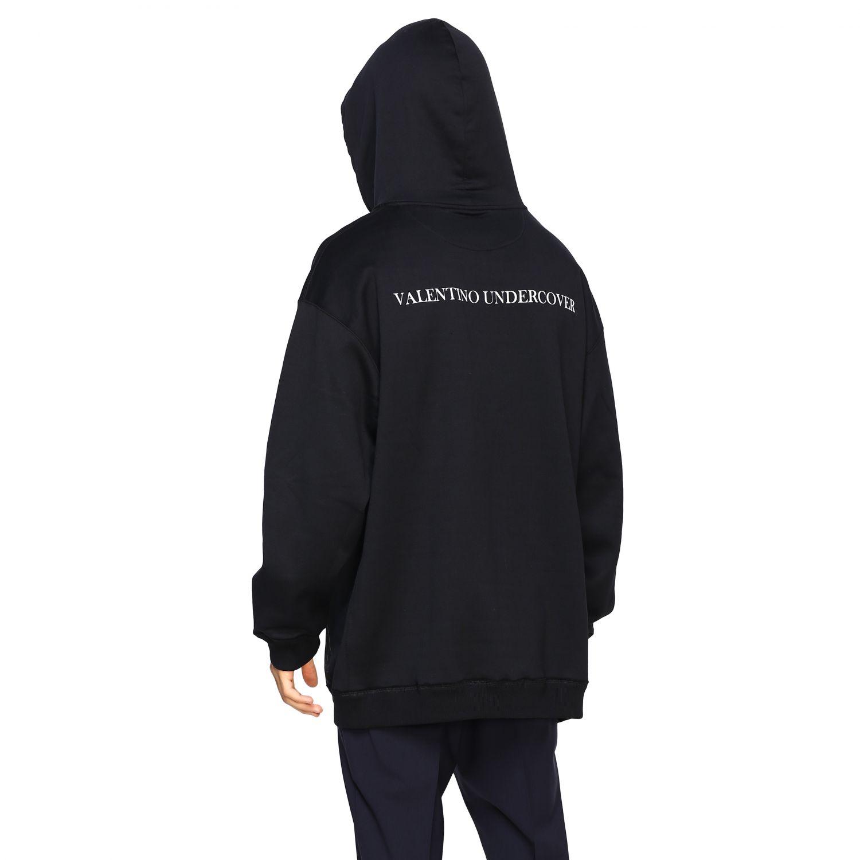 Valentino v face ufo 印花连帽卫衣 黑色 3
