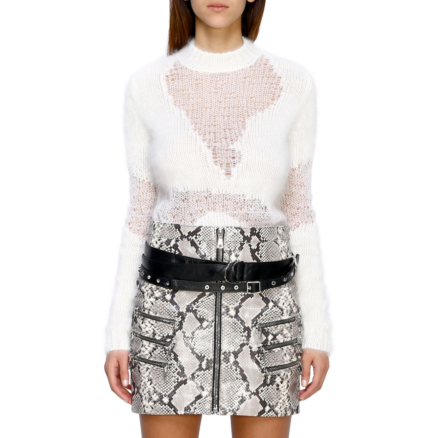 Pull femme Unravel Project blanc 1
