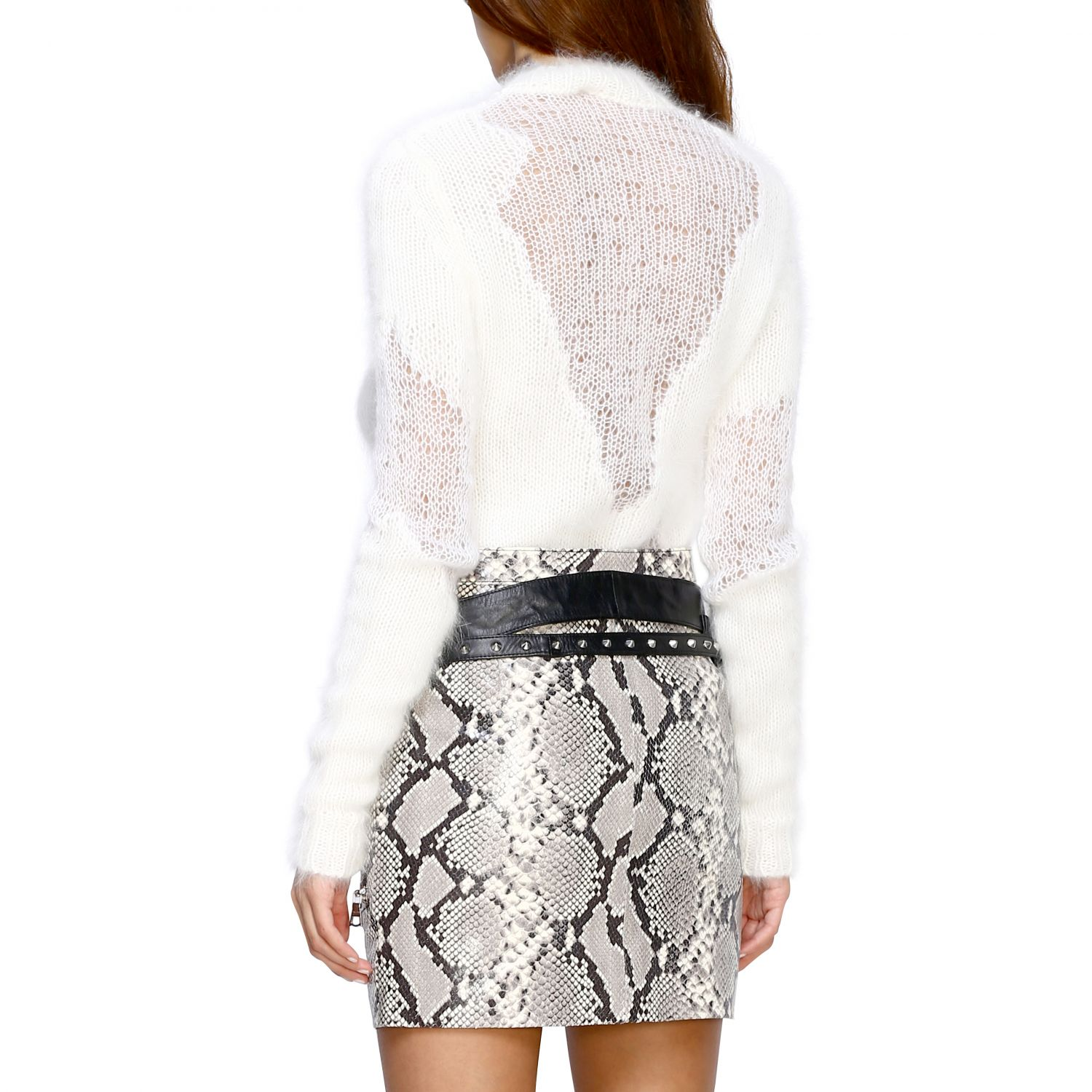 Pull femme Unravel Project blanc 3