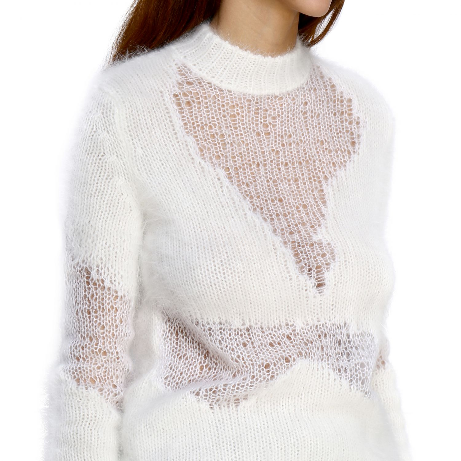 Pull femme Unravel Project blanc 5