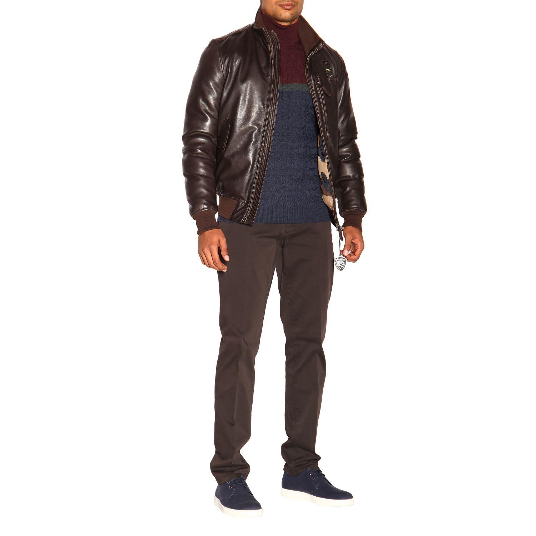 Cappotto uomo Blauer marrone 2