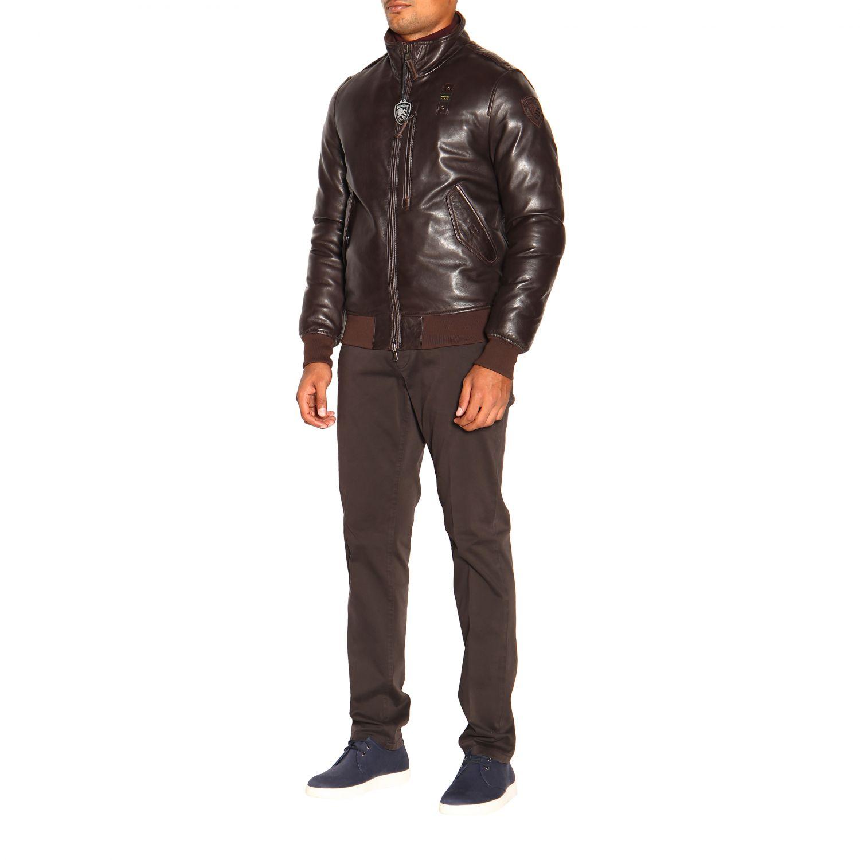 Cappotto uomo Blauer marrone 4