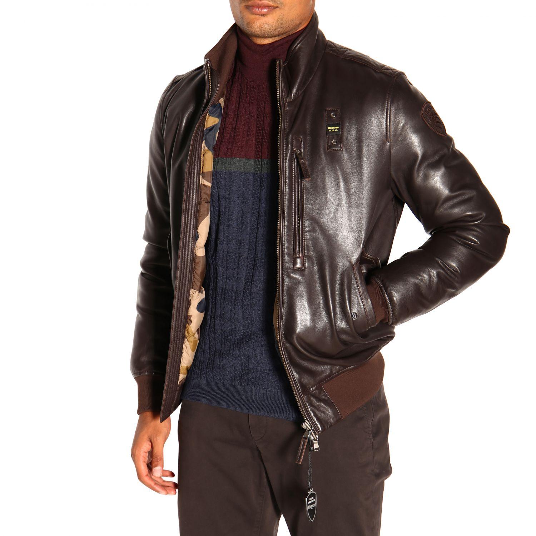 Cappotto uomo Blauer marrone 5