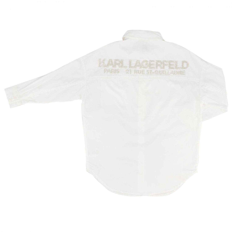 Camisa Karl Lagerfeld Kids: Vestido niños Karl Lagerfeld Kids blanco 2