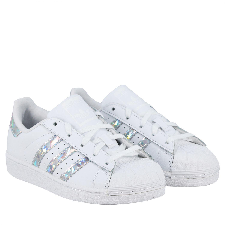 Zapatos niños Adidas Originals blanco 2