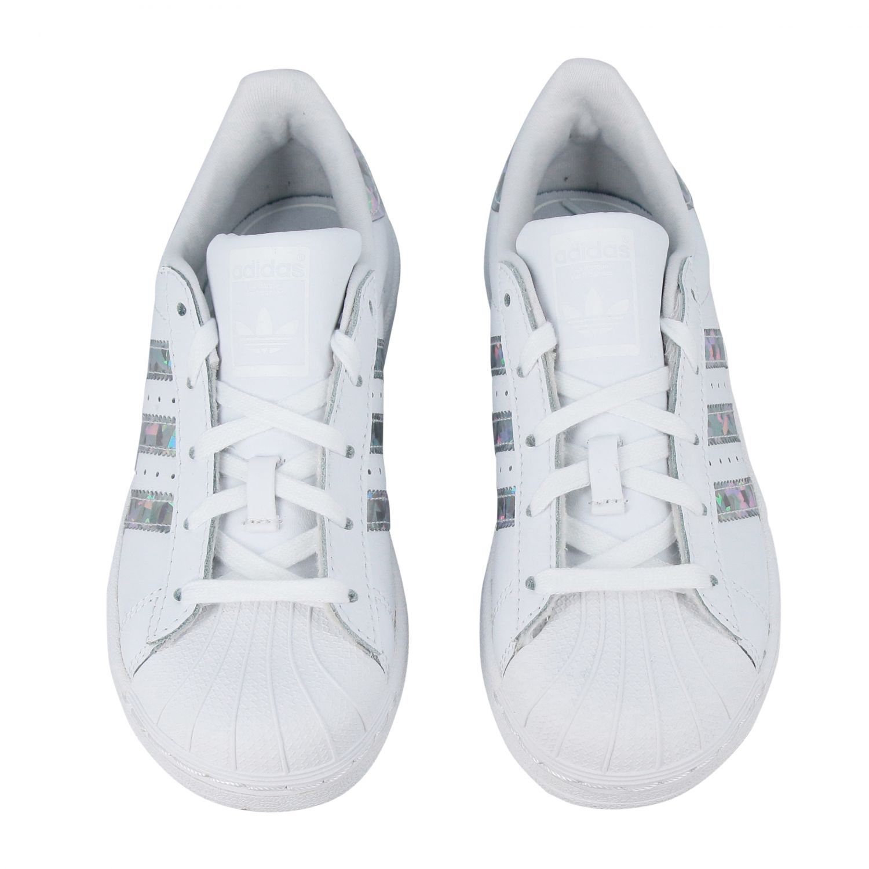 Zapatos niños Adidas Originals blanco 3