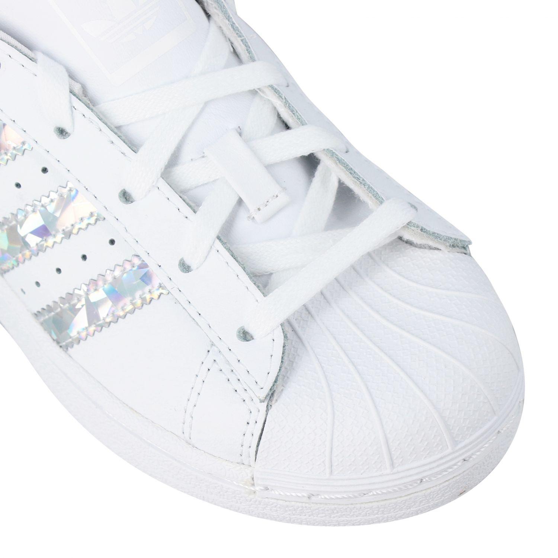 Zapatos niños Adidas Originals blanco 4