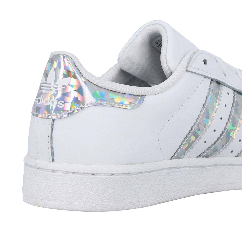 Zapatos niños Adidas Originals blanco 5