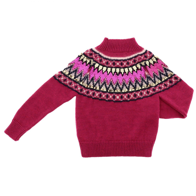 毛衣 Alberta Ferretti Junior: 毛衣 儿童 Alberta Ferretti Junior 紫红色 2