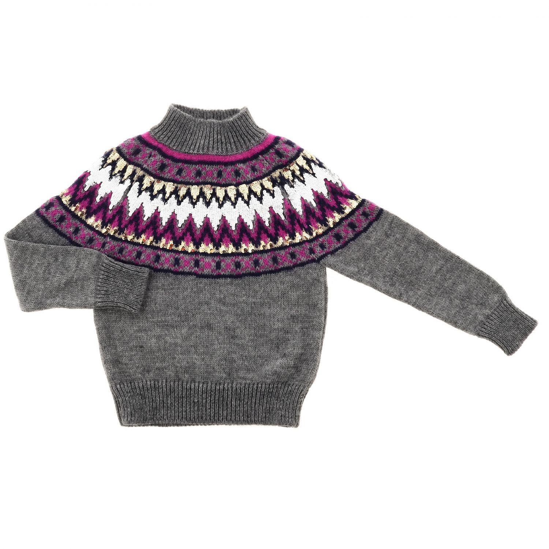 Maglia Alberta Ferretti Junior: Pullover maxi Alberta Ferretti Junior grigio 1