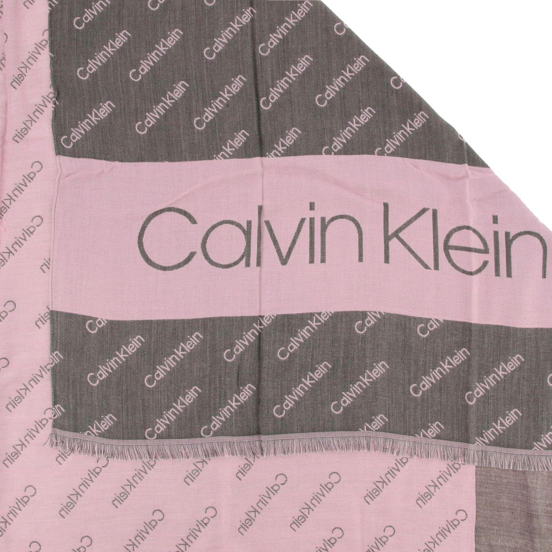 Sciarpa Calvin Klein con logo all over grigio 3