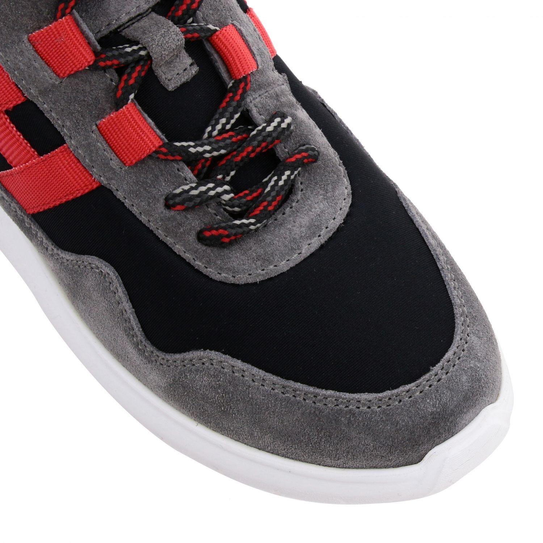 Sneakers Hogan en daim et toile avec maxi H bleu 4