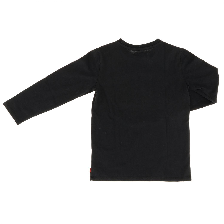 T-shirt Woolrich: T-shirt Woolrich a maniche lunghe con logo nero 2