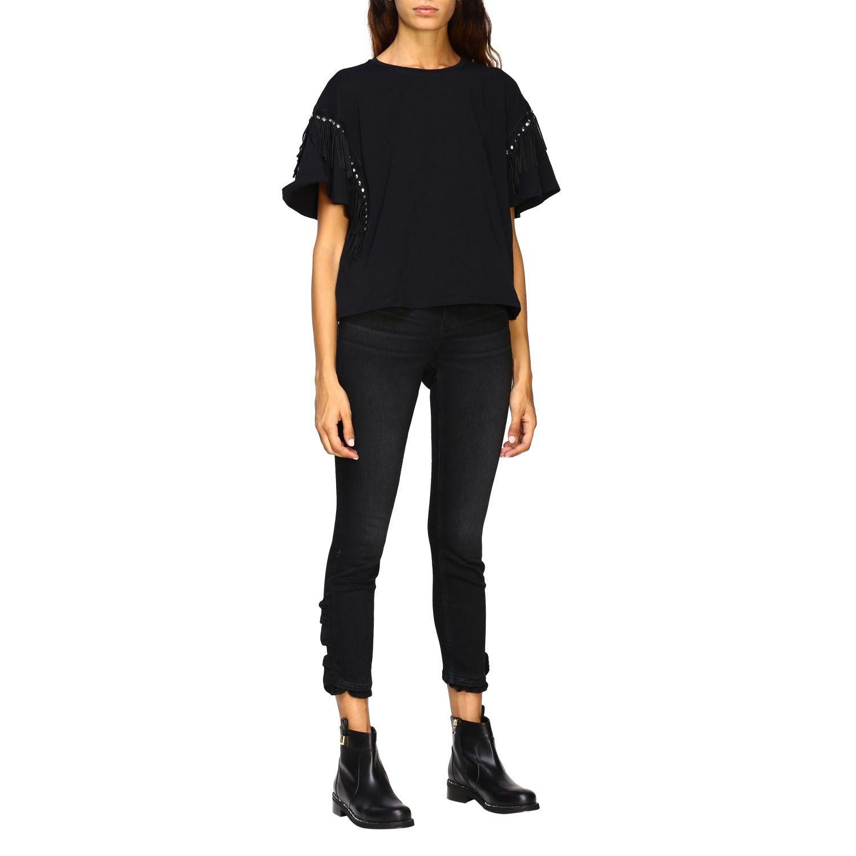 Jeans Liu Jo: Pantalón mujer Liu Jo negro 2
