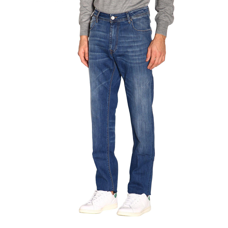Pants men Re-hash blue 4