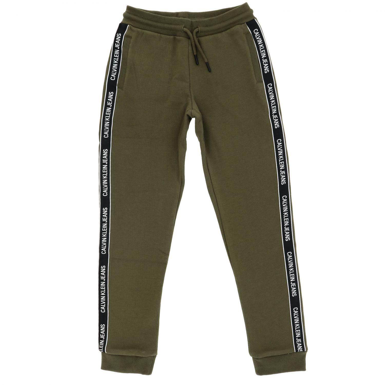Pantalone Calvin Klein: Pantalone bambino Calvin Klein verde 1
