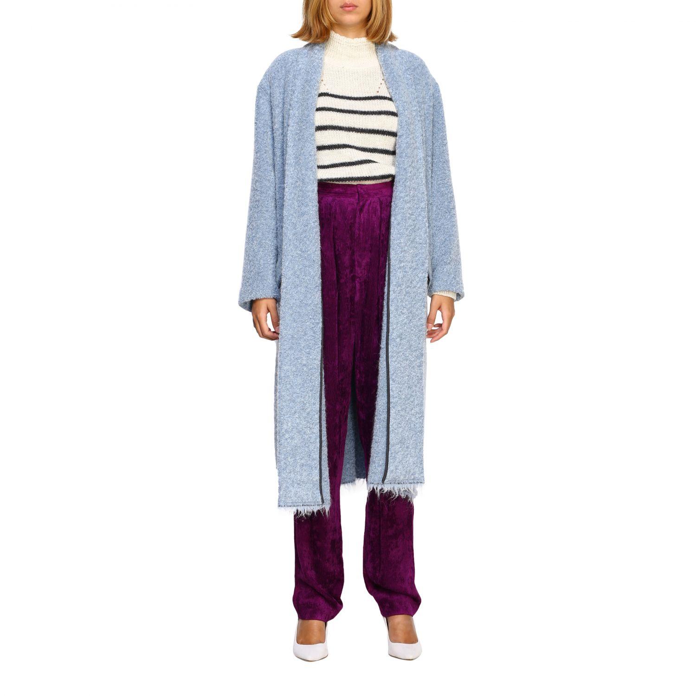 Cappotto donna Isabel Marant Etoile azzurro 1